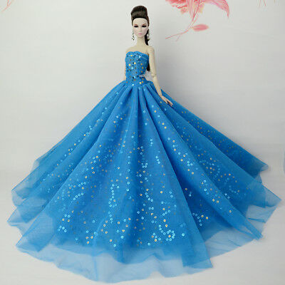Blue Fashion Royalty Princess Dress/Clothes/Gown For 11 in. Doll S543