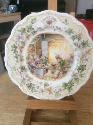 Royal Doulton Brambly Hedge 'The Great Hall' Plate, Mint Condition&1st Quality