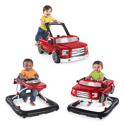 Bright Starts 3 Ways To Play Ford F150 Red Baby Walker - Help Your Infant Walk