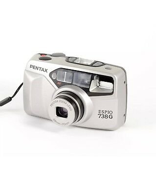 Pentax Espio 738G 38-70mm Zoom AF Compact 35mm Camera - Tested - Working