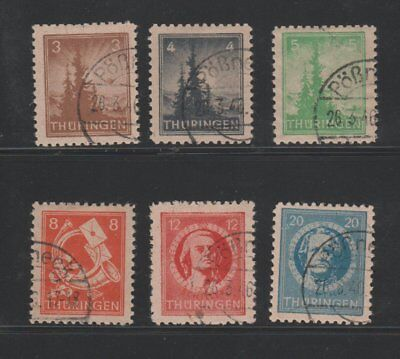 GERMANY STAMPS GDR scott 16N1//7 Thuringia 267 0418