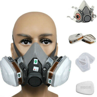7 in 1 Half Face Gas Mask Suit Protection For 3M 6200 Spray Painting Respirator