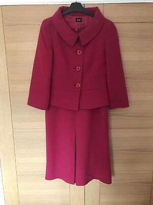 Raspberry Hobbs Suit/Dress/Wedding Outfit, Size 10
