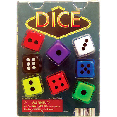 """1"""" 1.1"""" Vending Machine Toys Assorted Self Vend Dice only 15 cents each free S&H"""