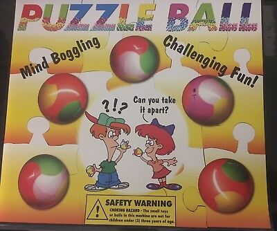 """1"""" 1.1"""" Vending Machine Toys Self Vend Puzzle Balls only 15 cents each free S&H"""