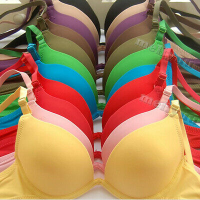 3 Pcs  28-36 AA A B Women Bras Push Up Bra Padded Underwire Girls Sexy Lingerie