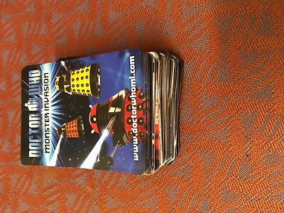 87 Doctor Who Monster Invasion Cards.