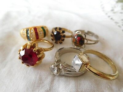 Lovely Collection of Vintage 1950s/60s/70s Dress RINGS inc Sarah COV