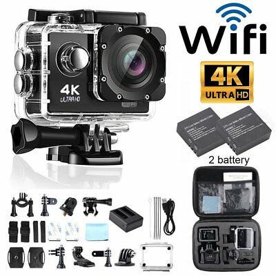 WiFi FHD 4K Waterproof Sports Action Waterproof Camera DV Cam Camcorder 12MP MA