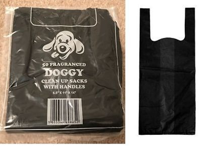 Scented Dog Poo Bags With Handles - Pet Waste Cat Bag Pooper Toilet Scooper Sack
