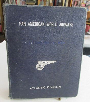 1951-52 Pan Am World Airways Aircraft Operators manual,Eastern Division Airliner