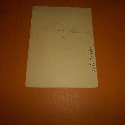 Ted Lewis was an American entertainer, bandleader, singer Hand Signed Album Page