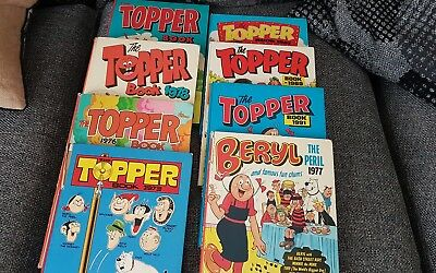 7 Topper Annuals plus Beryl the peril Annual