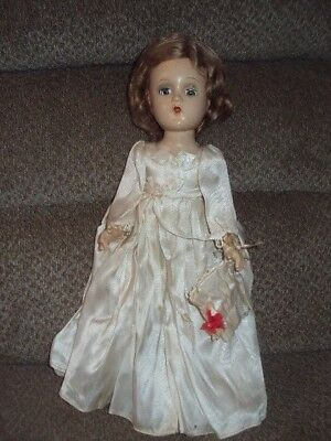 "Vintage Madame Alexander Composition Doll-Ivory Dress-14""-Beautiful!"