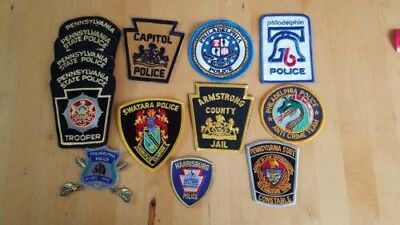 Pennsylvania Police PA 13 patch lot, Mounted, Anti Crime, County Jail, Constable