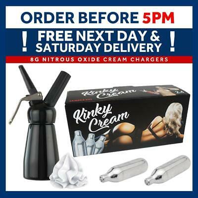 Kinky Cream Chargers 8g NOS N2O NOZ Whipping Cream Cannisters Add Dispenser Mosa