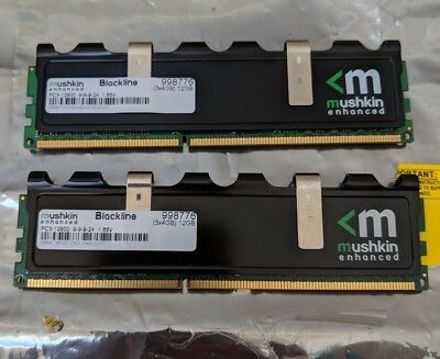Mushkin Blackline Desktop RAM 8 GB (2x 4GB DIMM) DDR3 1600 PC3-12800 CAS 9