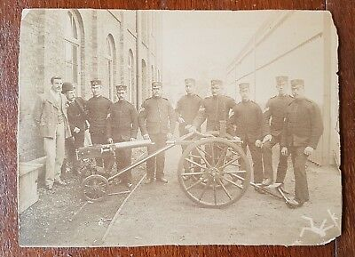 1880's british army military photograph - .303 Maxim-Nordenfelt machine gun.