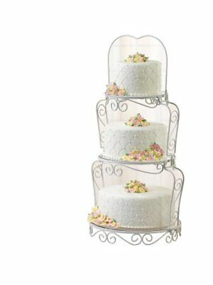 Wilton 3 Tier Graceful Cake Cupcakes Party Stand Decoration Wedding Celebrations
