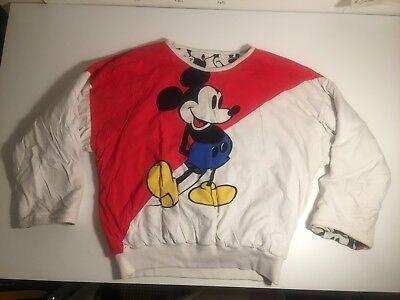 Vintage Retro Rare Collectable Mickey Mouse Disney Reversible One Size Jumper