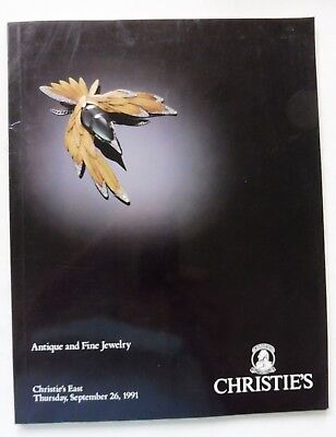 """Christies New York Auction Catalog """"Antique and Fine Jewels"""" 9/26/91 Great Shape"""
