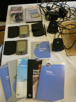 2 Palm V with cases chargers handbook software bundle