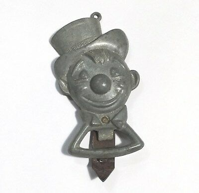 Vintage Antique Can Bottle Opener Clown Drunk Hobo Man Cave
