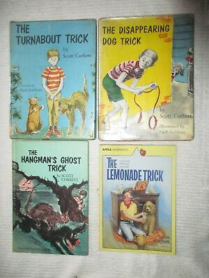 Lot Vintage Scott Corbett Trick Books Hangmans Ghost,Turnabout, Disappearing Dog