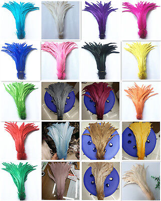 10/50/100pcs Rooster Tail Feathers 10-16 inch/25-40cm DIY jewelry art decoration