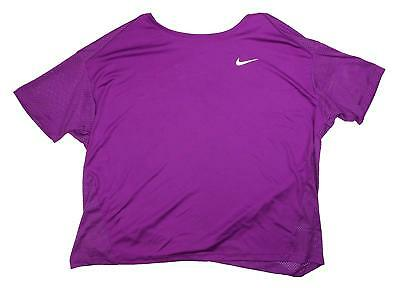 aef2bf67570 NIKE WOMENS DRY Miler Active Top Running Shirt Berry Plus Size 1X ...