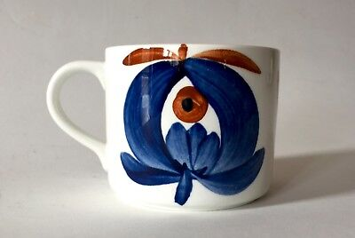 Vintage Rorstrand Pottery Polka Coffee Cup Marianne Westman Sweden c.1950/60 (C)