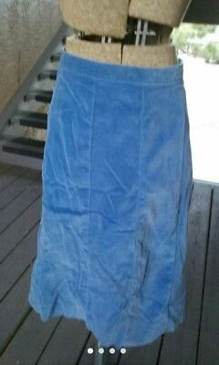 vintage 1940s Periwinkle blue velvet  A line skirt, well made, pin up