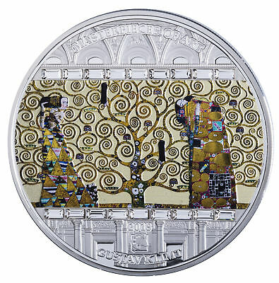 Tree Of Life Klimt Masterpieces Of Art 2018 3 Oz $20 Silver Coin Cook Islands