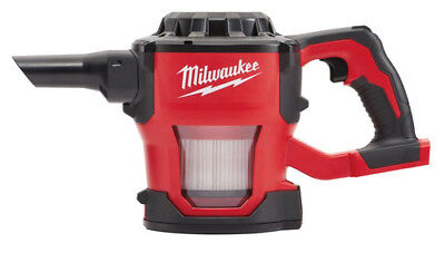 Milwaukee 0882-20 M18 18 Volt Cordless Lithium Ion Compact Vacuum, Tool Only
