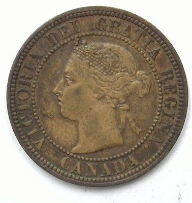 Canada 1882-H Large Cent  Uncirculated Brown