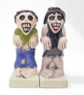 Zombies Magnetic Ceramic Halloween Salt and Pepper Shakers Item #9487