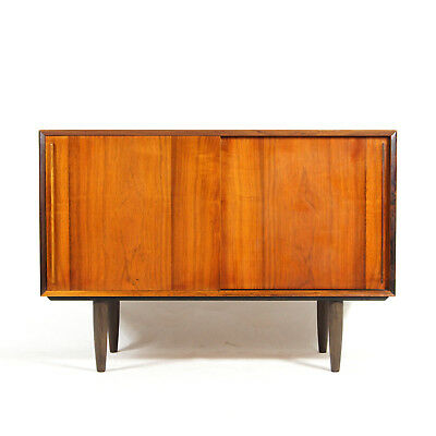 Retro Vintage Danish Rosewood Sideboard Cabinet 1970s Mid Century Modern Design