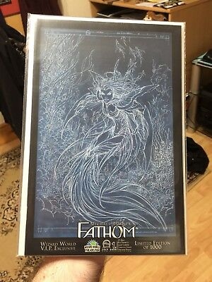 Fathom 1E Wizard World Vip Exclusive Ltd 1000 Negative Michael Turner Variant