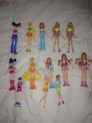 "Vds lot 13 WINX ""KINDER SURPRISE"" kinder série maxi winx 2005/06 + win city"