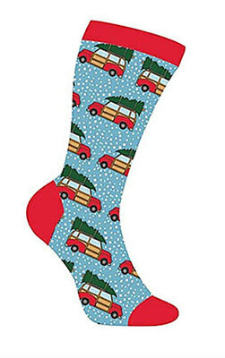 Retro Truck Sox Women'S Christmas Holiday Themed Crew Socks