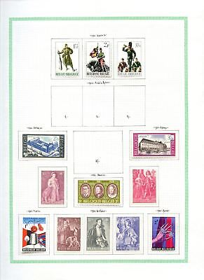 Belgium 1964-1965 MH Album Page Of Stamps #V6779