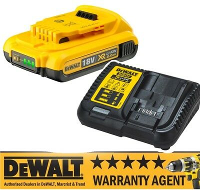 DeWALT DCB183 XR Lithium LI-ION 18v 2.0Ah Battery & Charger with fuel gauge N