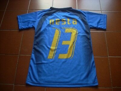 Rare Italy 2006 Germany World Cup Replica Home Shirt 10 Years New Nesta 13 Vtg