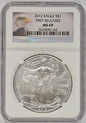 United States 2012 American Silver Eagle $1 NGC MS69 First Releases 3623836-165