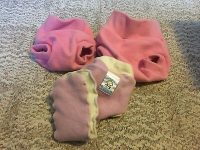 Woollybottoms & Loveybums Lot of 3 Wool Diaper Covers - Size Small (x2) and Med