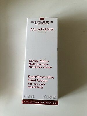 Clarins Super Restorative Hand Cream ~ 30ml  boxed / New & Sealed