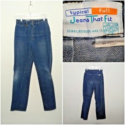 Jeans That Fit Jeans Women's 10, Measured 26x30 1970's Highwaist Cool inv#F4434