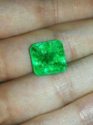 Wonderful 10.28 ct Natural Certified Emerald Octagonal