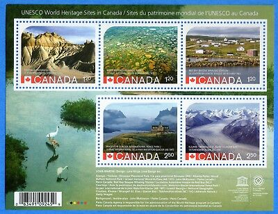 2015 Canada #2857 UNESCO World Heritage Sites Souvenir Stamp Sheet Mint-NH