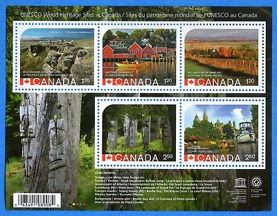 2014 Canada #2739 UNESCO World Heritage Sites Souvenir Stamp Sheet Mint-NH